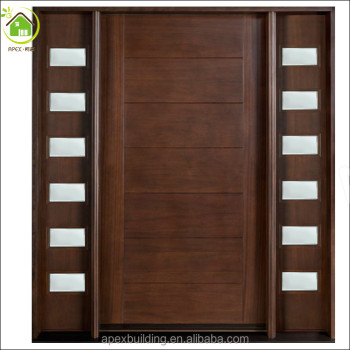 Sidelites solid wood door /custom front door /solid wood main ...