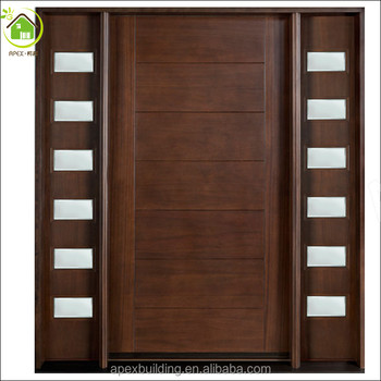Gentil Sidelites Solid Wood Door /custom Front Door /solid Wood Main Entrance  Wooden Door Designs
