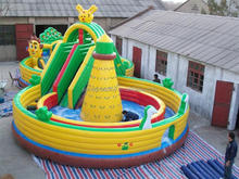 Happy Hop Inflatable Kids Bounce and Slide 9022--Fancy Dragon Air Castle