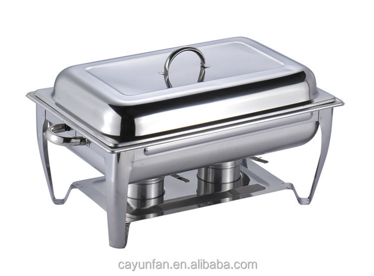 9 Liter Capacity Stainless Steel Chaffing Dish Warming Tray Food Warmer  Catering Buffet Food Warmer Pot - 9 Liter Capacity Stainless Steel Chaffing Dish Warming Tray Food