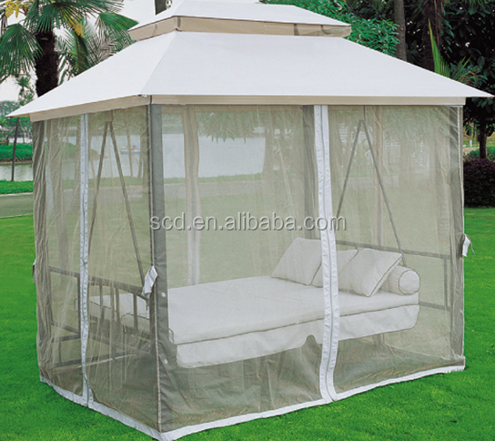 Outdoor canopy hanging swing chair swing bed with sofa for Outdoor hanging beds for sale
