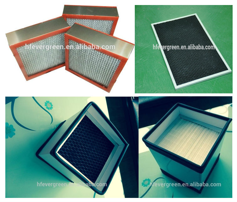Air filters pre filter hepa filter pocket filter penal for Biological filter box