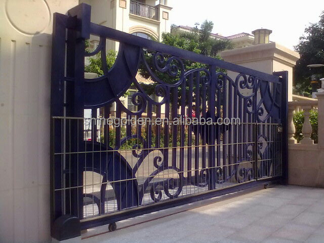 Most Popular Outdoor Gate Designs Of Wrought Iron Gg8278 Buy