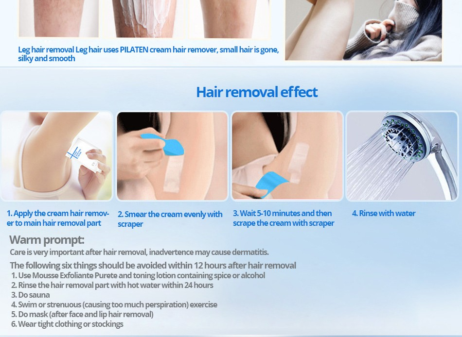 2017 Pilaten Nature Depilatory Scalp Pilaten Best Hair Removal Cream