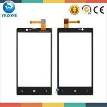 Black Original New Mobile Phone Front Touch Panel For Nokia Lumia 820,Touch Screen Digitizer Replacement For Nokia Lumia 820