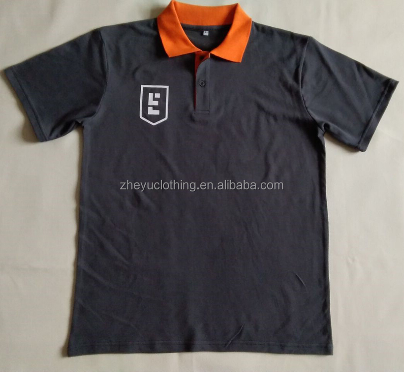 Promotion cotton grey polo shirt/ jersey anti-pilling polo shirt/ oem collar shirt