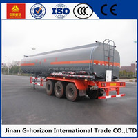 Top Quality Three Axles 50000L fuel tank trailer sale oil tank semi trailer