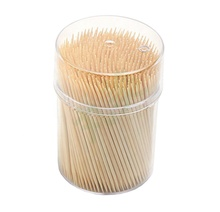 500-Pack Natuurlijke Bamboe Fruit Cocktail Sticks <span class=keywords><strong>Tand</strong></span> Picks Tandenstokers