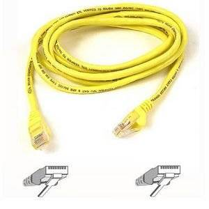 """Belkin, Patch Cable Rj-45 (M) Rj-45 (M) 25 Ft Utp Cat 5E Yellow For Omniview Smb 1X16, Smb 1X8, Omniview Smb Cat5 Kvm Switch """"Product Category: Supplies & Accessories/Network Cables"""""""