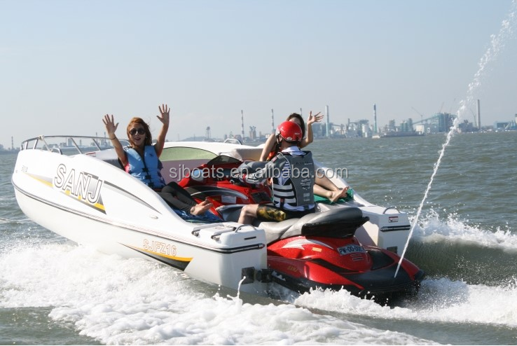 Personal Reputated SANJ Wave passenger boat --powered by various jetski waverunne water scooters jet boat China cheap product