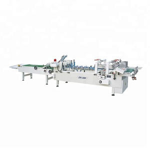 Paste Carton Boxes and Corrugated Box Making Machine ZH-580 paper glue machine manual