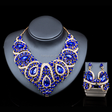 Nigeria Crystal Beads Jewelry Sets African Bridal Wedding Beads Jewelry Sets