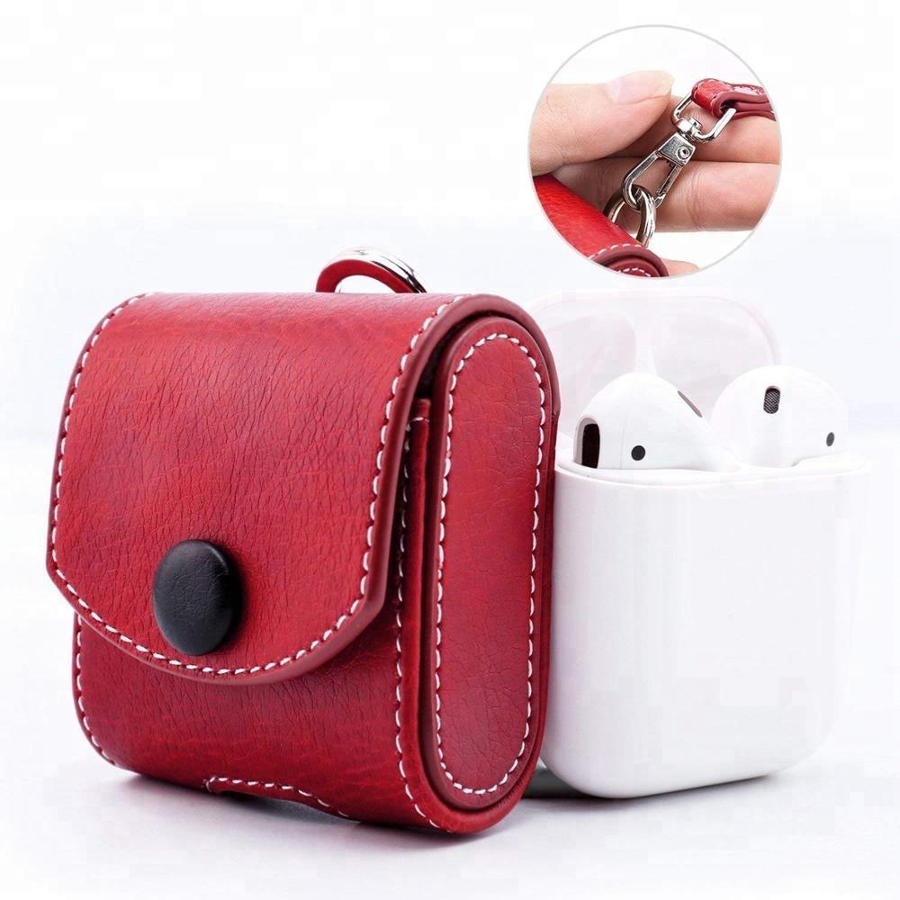Hot Koop Case Voor AirPods, Snap Sluiting Beschermhoes Draagtas Pocket, met Holding Strap Opladen Case