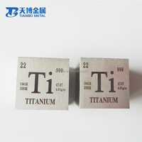 1inch Gr2 Gr5 forged titanium square and round block/cube price with Laser marking
