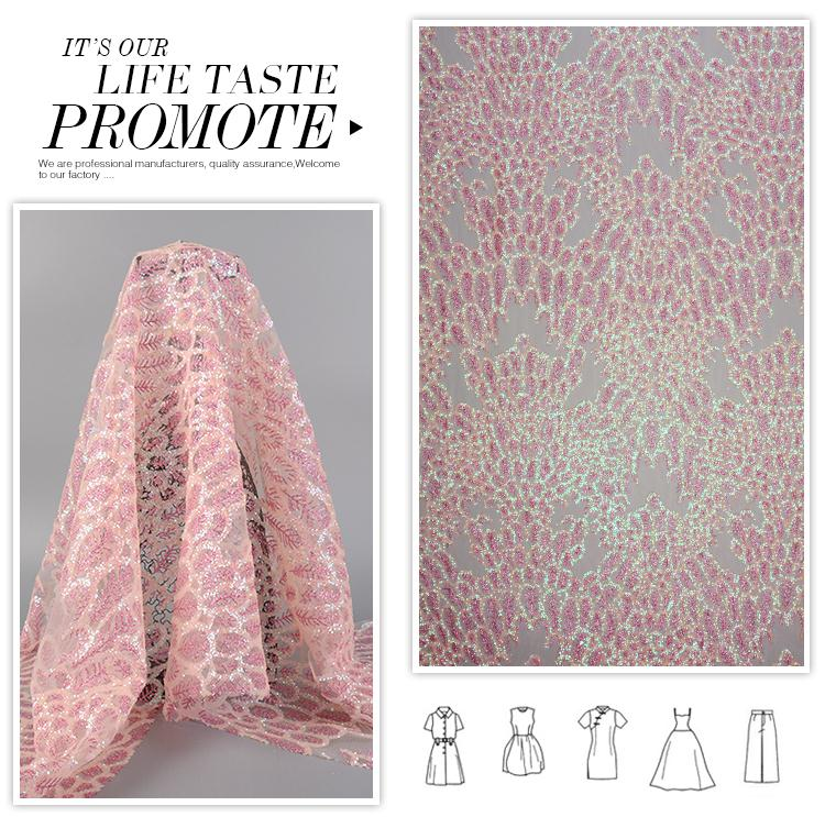 New style different design comfortable poly backdrop sequin fabric