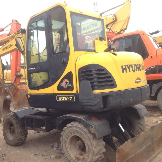 South Korea Used Hyundai 60W-7 excavator, Used 60-7/225LC-7/150LC-7 in low price