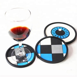 Cheap custom double sided drink beer wine coffee soft pvc rubber coaster