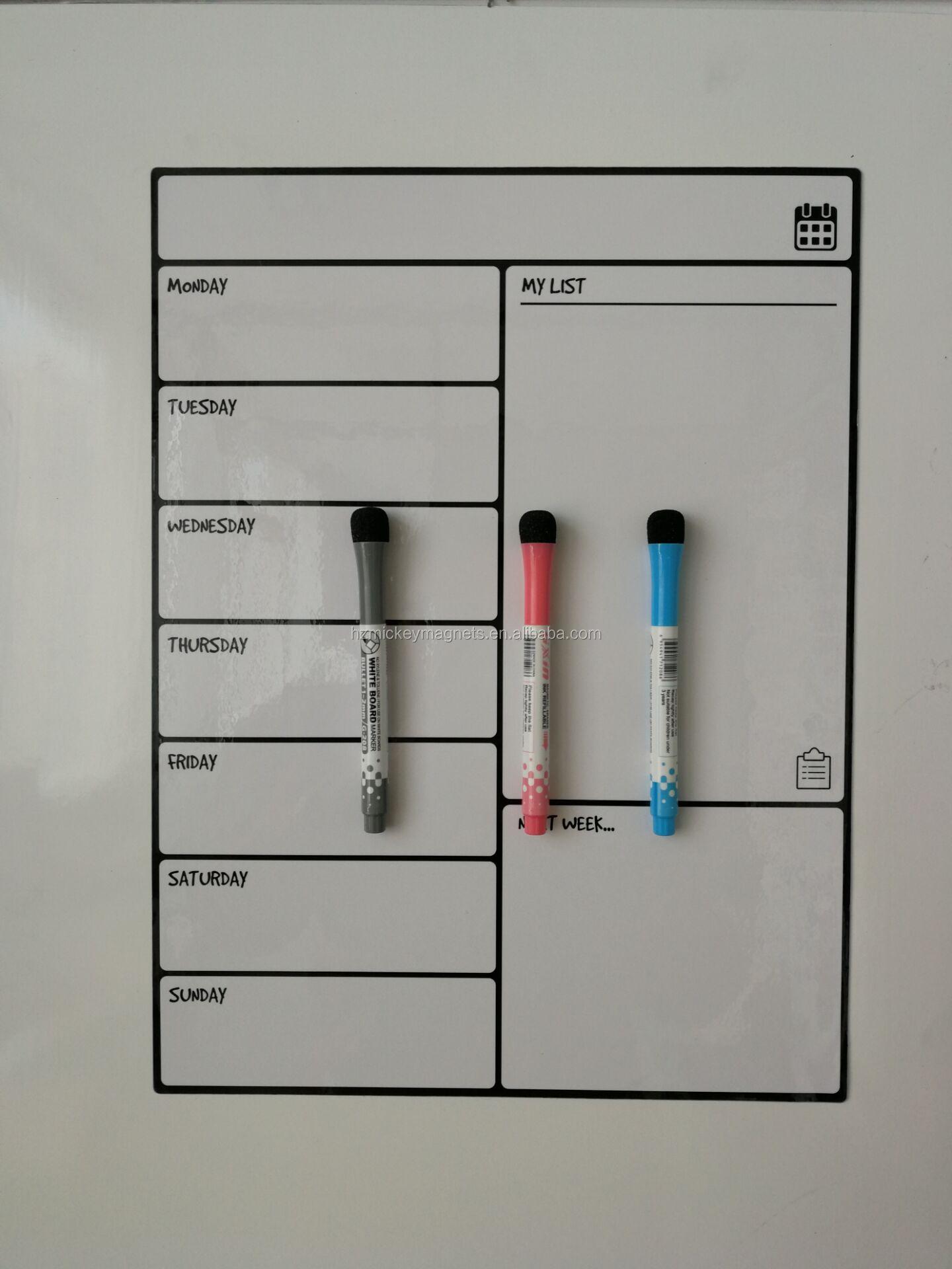16*12 بوصة المغناطيسي رسم لوحة بيضاء مع 3 غرامة تلميح جودة عالية علامات