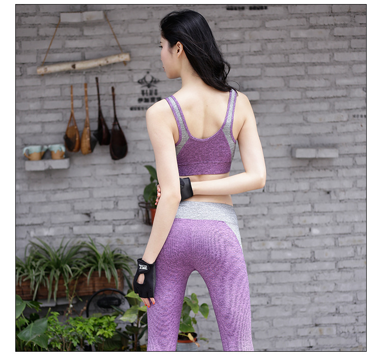 2019 High strength shockproof sport bra high waist classic yoga leggings fitness yoga set