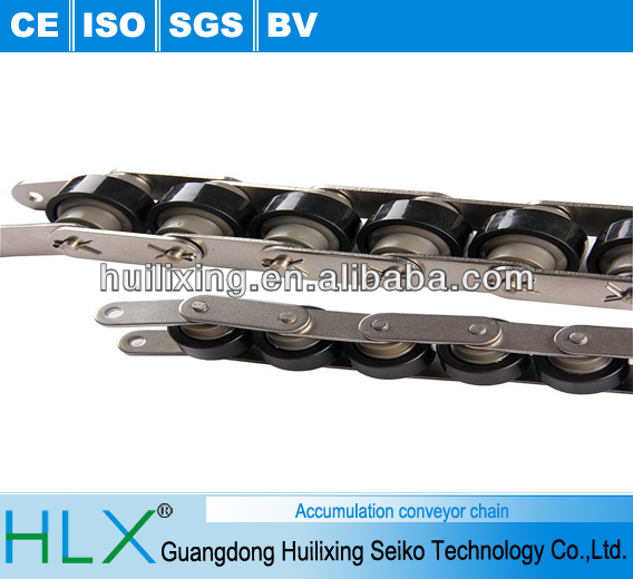Plastic/metal/stainless steel triple/2.5 speed plus conveyor chain for assembly line aluminum frame