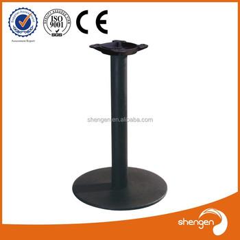 Flat Irons Round Cast Iron Table Base Coating Powder Table Leg ...