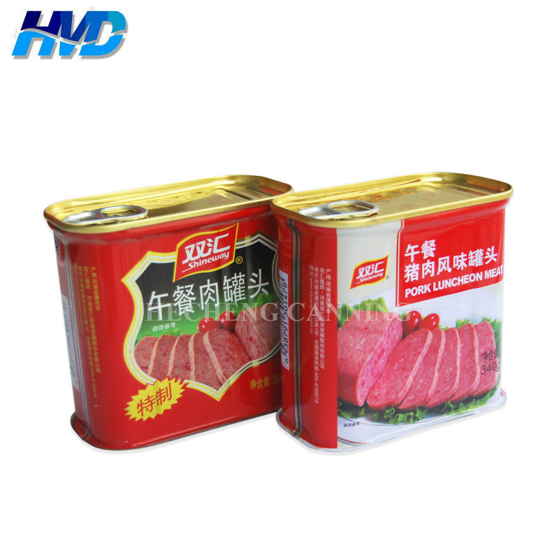 340g Square luncheon meat tin Box for food <strong>packing</strong>