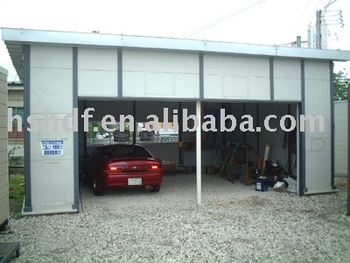 Low cost large space prefab modern container garage buy for Low cost garage