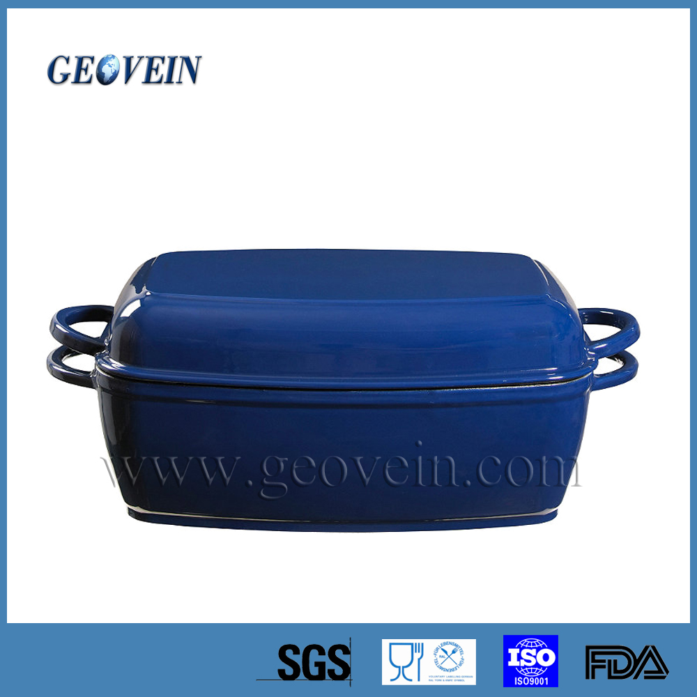 Hot sale enamel baking pan for camping ,outdoor cast iron casserole cookware