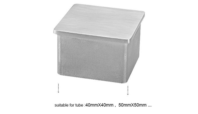 Sonlam FG-15, CastingTechnology Stainless Steel AISI304/316 End Cap For Square Tube