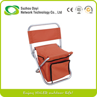 Yoler Fold up Easy Take Chair Red MINI Camping Chair With Pocket