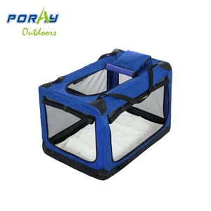 3-Doors Foldable Portable Dog Crate Travel Pet Home Indoor/Outdoor Soft & Comfy Crate for Large Dogs