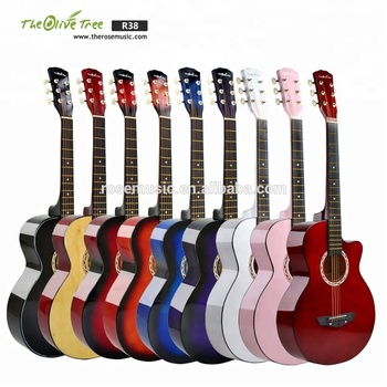 Wholesale custom 38 inch Chinese semi cutaway  acoustic guitar electric and student guitar made in China