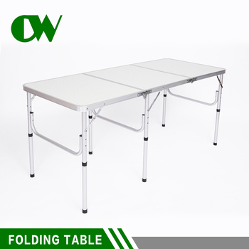 Ordinaire Best Price 6 Feet Catering Outdoor Camping Picnic Aluminum Folding Table  With Metal Folding Legs