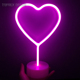 Valentine festival decoration love heart shaped 3d led neon night light