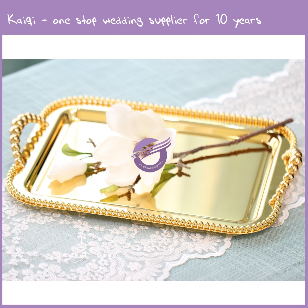 KB105 High Quality gold food Serving Tray cake stand for wedding and banquet