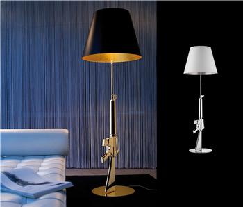 modern elegant standing lamps gold floor lamps resin gun floor lighting