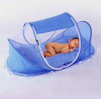 Foldable Infant Baby Bed Canopy Mosquito Net / Baby mosquoito net with cushion / folding baby mosquito net
