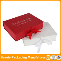 luxury rigid cardboard hair extension packaging uk