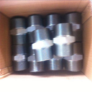 stainless 304l forged pipe fitting NPT threaded hex nipple