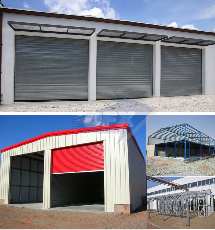 special show discount 5% product steel structure prefab garage and carpot and hangar