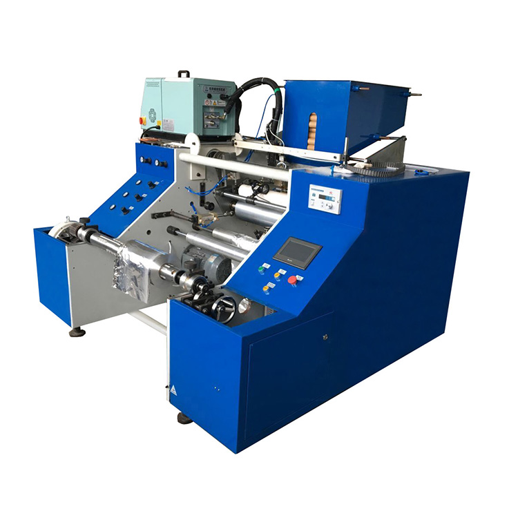 Small Production Line Aluminum Foil Roll Cutting Rewinding Machine