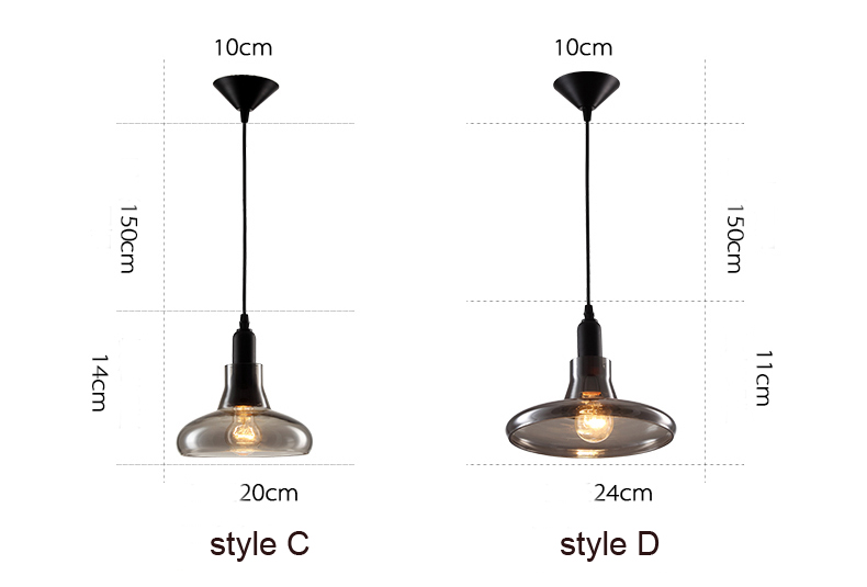 Decorative glass pendant lamp chandelier for home