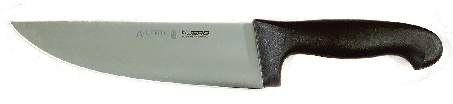 Jero Cutlery Atlantic Series - 8 Inch Butcher/Slicing Knife - High Carbon German Stainless Steel - Heavy Duty Polymer Handle - Made in Portugal