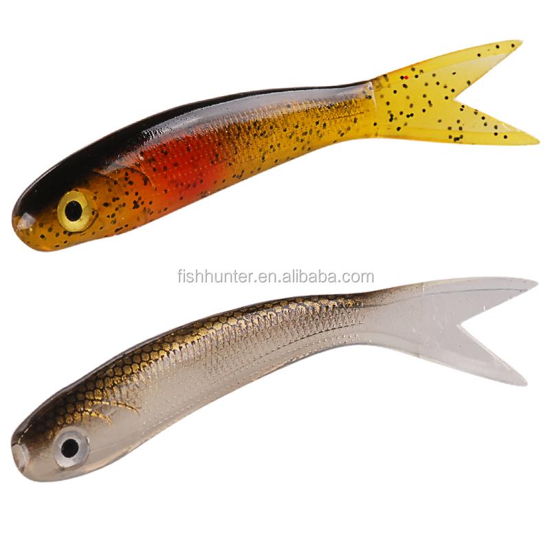 6 шт. TRULINOYA мягкие приманки 95 мм 6.5 г белка 3D полый рыбы ...