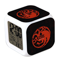 Game of thrones Jon Snow Daenerys targaryen 3D LED table alarm clock 2016 New Ice and