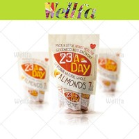 Custom Design Transparent Window Food Packaging Bag for Almond Nuts Packing