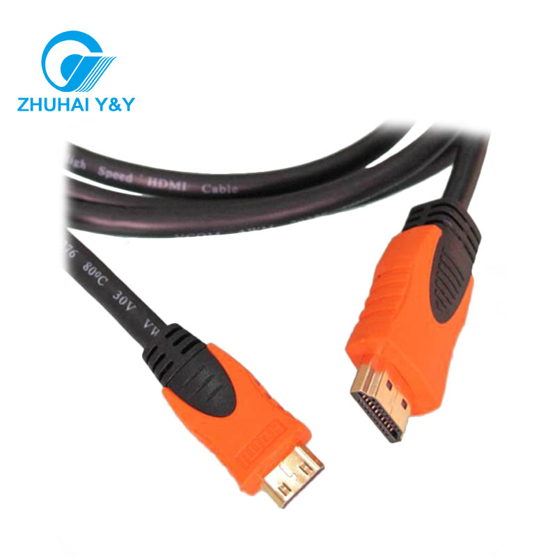 High quality 1.4/1.3/2.0 Male to Male HDMI Cable Twisted Pair Cabo HDMI support 3D,1080P,4K*2K with Ethernet