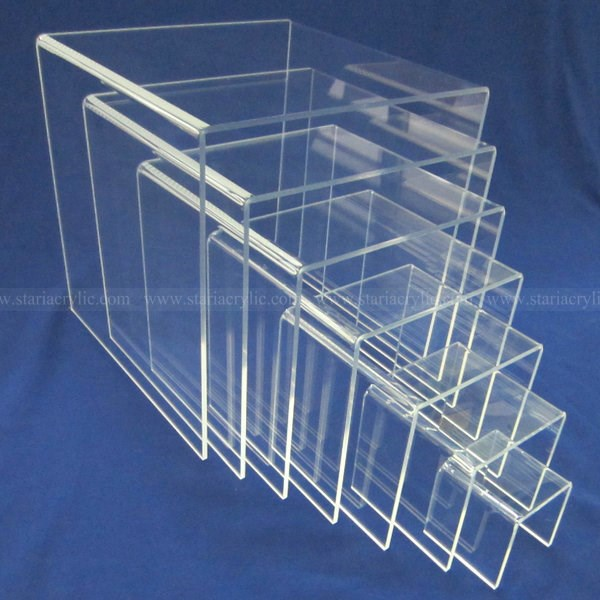 Set Of 7 Acrylic Display Stands,N Shaped Lucite Riser,Clear ...