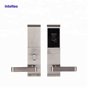 Cost-effective hotel key card lock double handle door lock