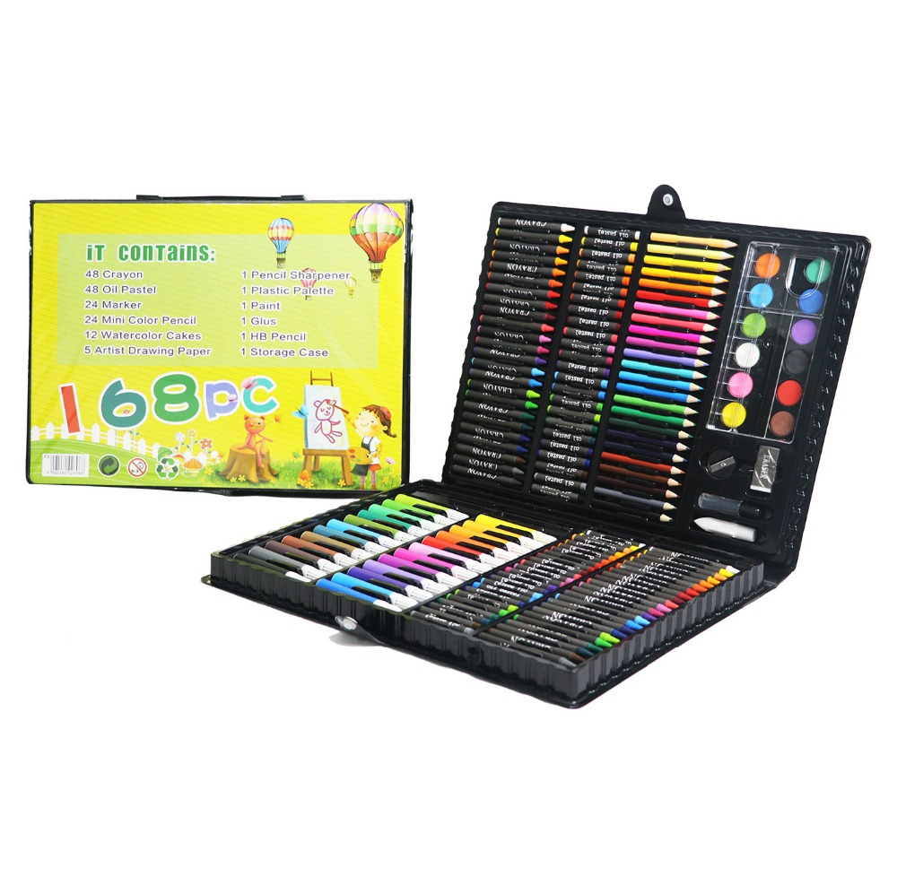 2016 promotional items 168-pieces back to school stationery set for kids art stationery set